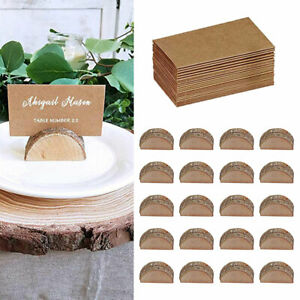 20X Wooden Table Card Holder Stand Number Place Name Menu Party Wedding Decor