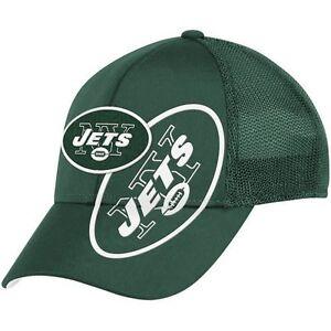 New York Jets NFL End Zone Structured Flex Hat, L/XL