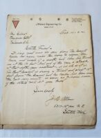 Antique 1922 Mutual Engineering Seattle Gold Mine Mining Letter Investment