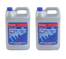 NEW Set of 2 Gallons Engine Coolant Antifreeze Type 2 Blue Genuine fits Honda