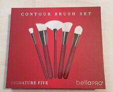 Bella Pro Signature Five White/Gold Polka Dots Contour Brush Set