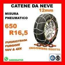 CATENE DA NEVE PER FURGONI E SUV OMOLOGATE 12MM MISURA PNEUMATICO 650 R16,5
