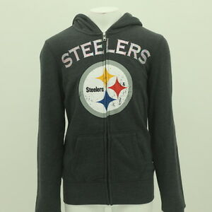 Junior Teen Girls Size NFL Pittsburgh Steelers Sweatshirt New Tags Distressed