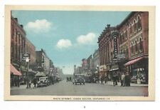 OWEN SOUND, ONTARIO Main Street, store signs, automobiles