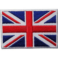 2x UK Flag Embroidered Iron / Sew On  Patch United Kingdom Badge Transfer Pop
