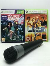 LIPS XBOX360 with Black WIRELESS MIC MICROPHONE and Dance central