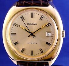 Bulova 1974 vintage GP/SS Swiss 17j automatic watch w/ new matched leather strap