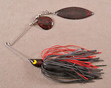 Bass Fishing Lure Custom Spinnerbait, 3/16 oz, With 1 Colorado & 1 Willow Blade