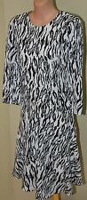 Womens Black and White Animal Print Dress BNWT - Country Road - Size 8