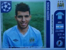 PANINI 53 Sergio Agüero Manchester City UEFA CL 2011/12