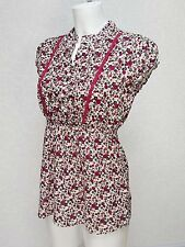 Girl RED HERRING Debenhams Pink White Floral cotton Elasticated waist Blouse 16y
