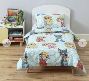 Paw Patrol Duvet Cover&Pillowcase,Baby Toddler Bedding Set