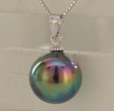 fashion South 14mm Black Sea Shell Pearl Pendant