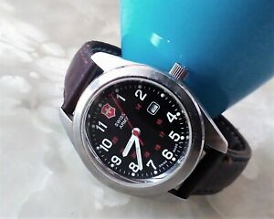 VICTORINOX SWISS ARMY Men's 241084 Stainless Brown Leather Band Wrist Watch