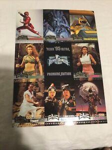 Promo Uncut Sheet--Mighty Morphin Power Rangers (1995) Fleer Ultra