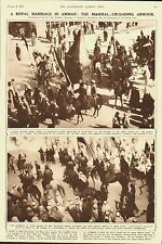 Transjordan.Amman.A royal marriage.The Mahmal; Crusading armour.1935.Print.Old