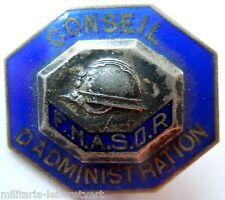 Insigne boutonnière CONSEIL ADMNINISTRATION FNASOR SOUS OFFICIER RESERVE Casque