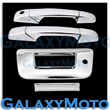 07-12 GMC Sierra Chrome 2 Door Handle+Tailgate w Keyhole no Camera Cover