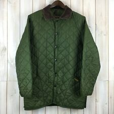 Vintage Barbour Diamond Quilted Men's Olive Green Jacket MADE IN ENGLAND M / L