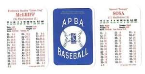 2001 APBA Season w/ EX Players - CHICAGO CUBS Team Set