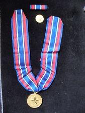 US ARMY CIVILIAN AWARD FOR VALOR SET ON NECK RIBBON WITH BOX