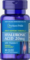 Puritan's Pride Hyaluronic Acid 20 mg - 30 Capsules (free shipping)