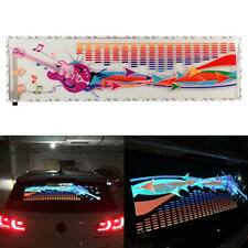 Music Beat Activated Car Stickers Equalizer Glow Blue LED Light Audio Voice 200h
