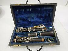 F Loree Clarinet - AA59 Serial Number - Antique w/ Original Case Wood missing