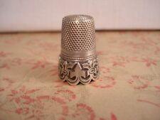 DÉ À COUDRE Ancien en ARGENT - Antique Solid Silver Thimble