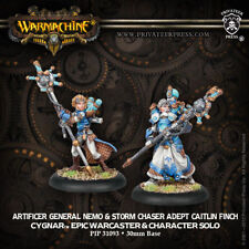 Warmachine: Cygnar-Artificer General Nemo & Storm Chaser Adept Caitlin-Warcaster