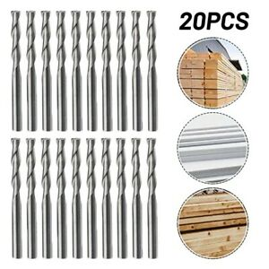 End Mills Router Drill Bit 20pcs 38.5mm CNC Cutting Tool Groove-shaped Spiral