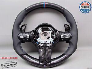 BMW F80 M3 M4 X5M X6M M6 F06 M5 M2 Carbon Sides Napa 3M Carbon Steering Wheel V6