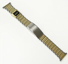 Brand New 22MM Two-Tone Silver Gold Stainless Steel Buckle Band Watch Band