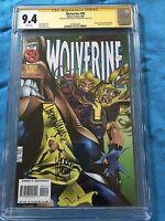 Wolverine #99 - Marvel - CGC SS 9.4 NM - Signed by Adam Kubert, Larry Hama