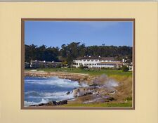 The 18th at Pebble Beach by  Barbara Snyder Monterey Golf Double Matted 11x14