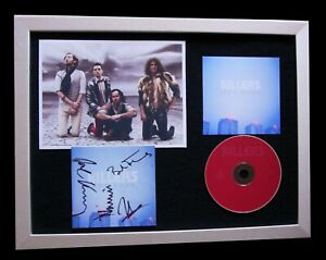 THE KILLERS+SIGNED+FRAMED+HOT FUSS+BRIGHTSIDE=100% AUTHENTIC+EXPRESS GLOBAL SHIP