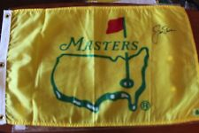 Authentic 1995 Masters Flag signed by Jack Nicklaus with cetification