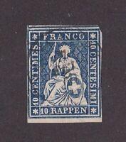 Switzerland stamp #16, used, 1854,  SCV $85.00