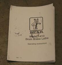 Bear 1410, FMC, Drum Doktor & John Bean Drum Brake Lathe Operating Manual