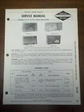 OEM Philco Service Manual~K-777 K-778 K-849 K-850 Clock Radios~Original