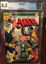 X-Men 100 CGC 8.5 Marvel 8/76 White pages