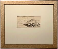 Listed Artist Alfred Thompson Bricher (1837-1908) Signed Ink On Paper Painting