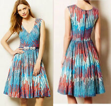 ANTHROPOLOGIE Plenty by Tracy Reese NWT Gallery Row Dress Blue Red Sz 4P $188