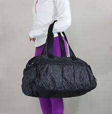 EUC (Used 1x) Lululemon Gym To Win Yoga Gym Duffel Bag CHAL/BLK Reflective Print