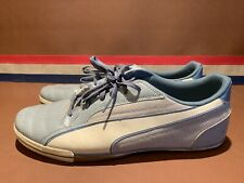 Puma Blue Cream Mens Size 11.5 Shoes Sneakers Casual Nice Vintage Look