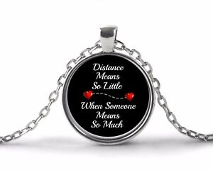 Long Distance Relationship Best Friend Mom Sister Gifts - Necklace Jewelry BFF