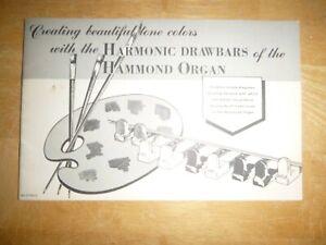 Organ Book:  Hammond B3, C-3, RT3 and A-100 Using the Harmonic Drawbars