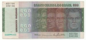 BRAZIL 500 CRUZEIROS 1979 PICK 196 AB LOOK SCANS