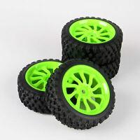 4Pcs RC 1/10 Model Car Rally Rubber Tires Wheel Rim 12mm Hex For HPI HSP 11204