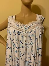 Eileen west nightgown 2X 100% Rayon  No Sleeves Long Floral